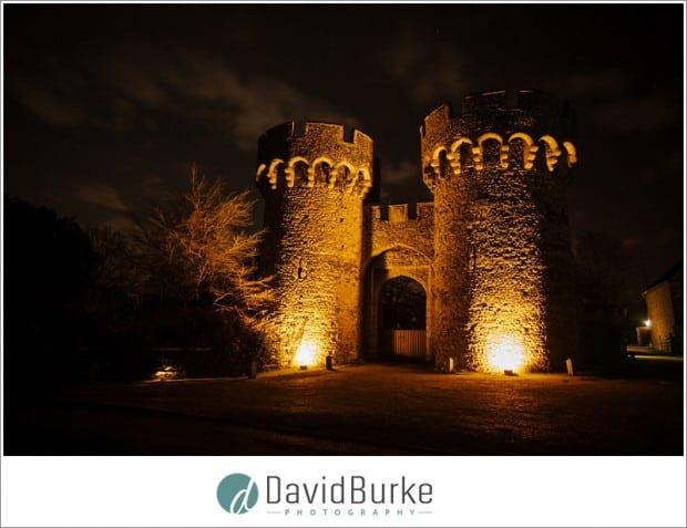 cooling castle at night