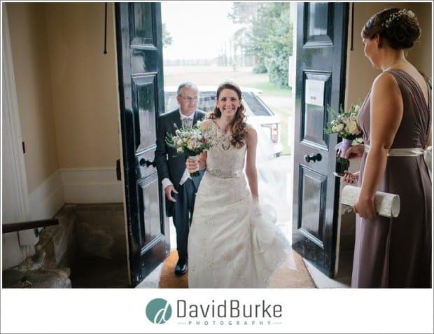 bride at combe bank