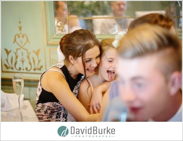 laughing girl at wedding