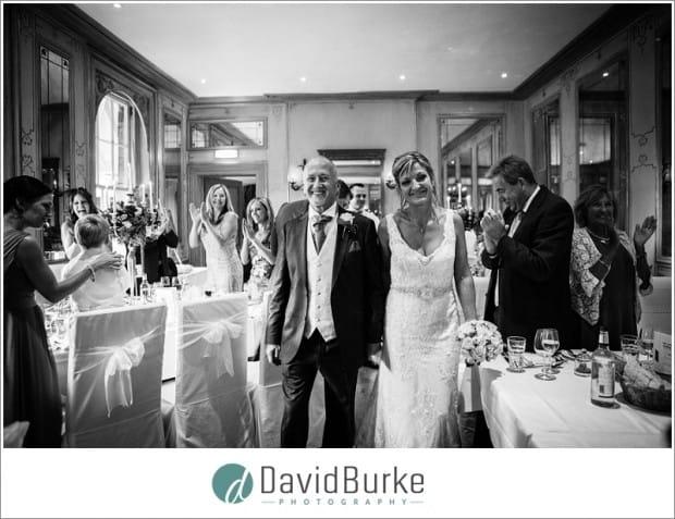 bride and groom ruinart room entrance