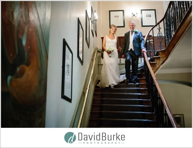 bride and groom hotel du vin staircase