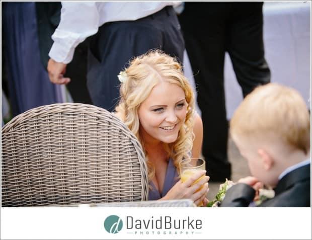 smiling bridesmaid hotel du vin garden