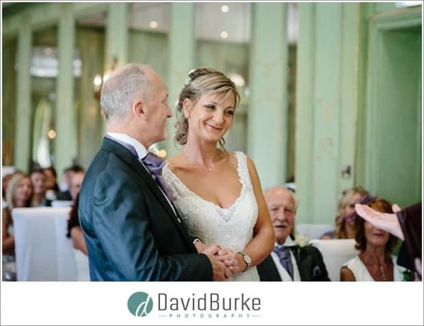 bride and groom ruinart room