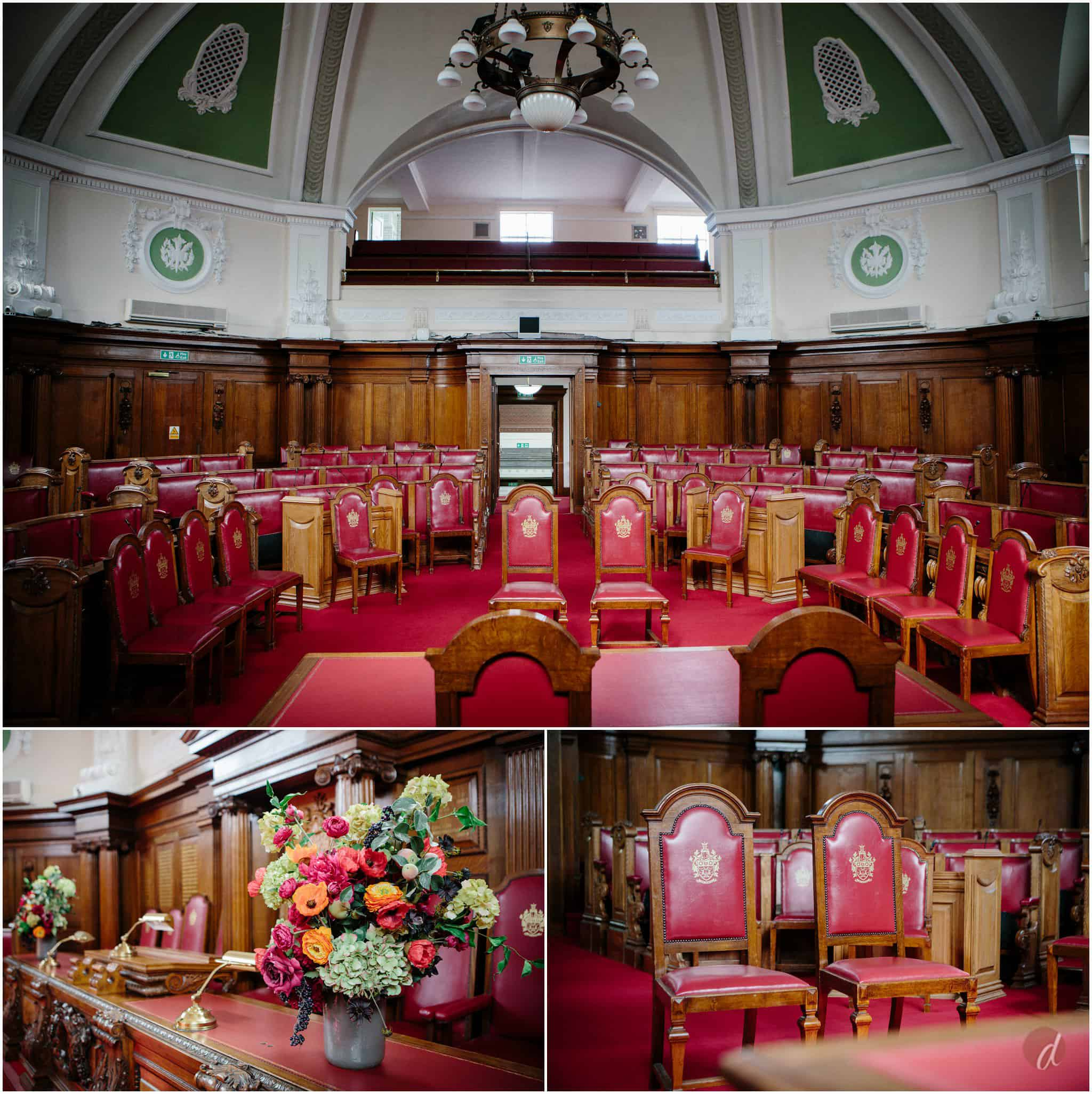 islilngton town hall council chamber wedding