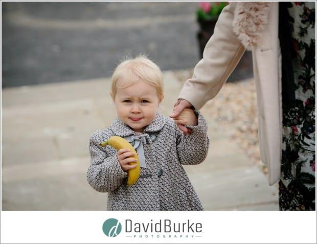kid with banana