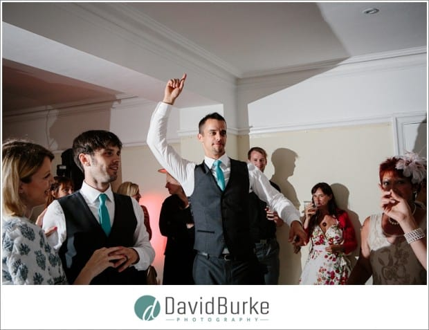 groom dancing at florence house