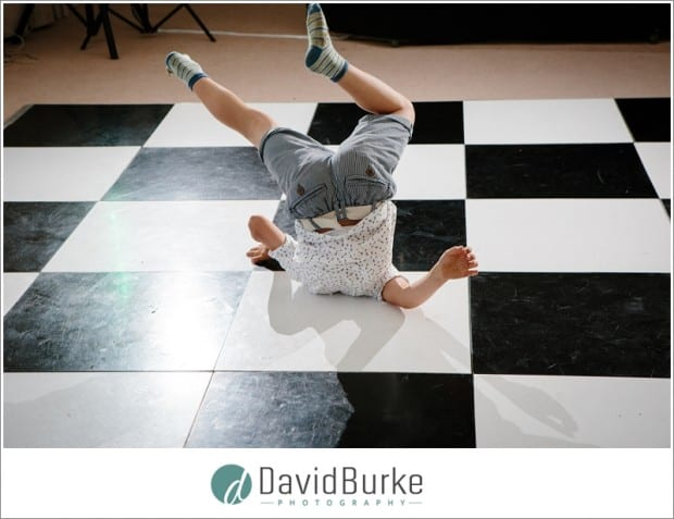 breakdancing kid at wedding