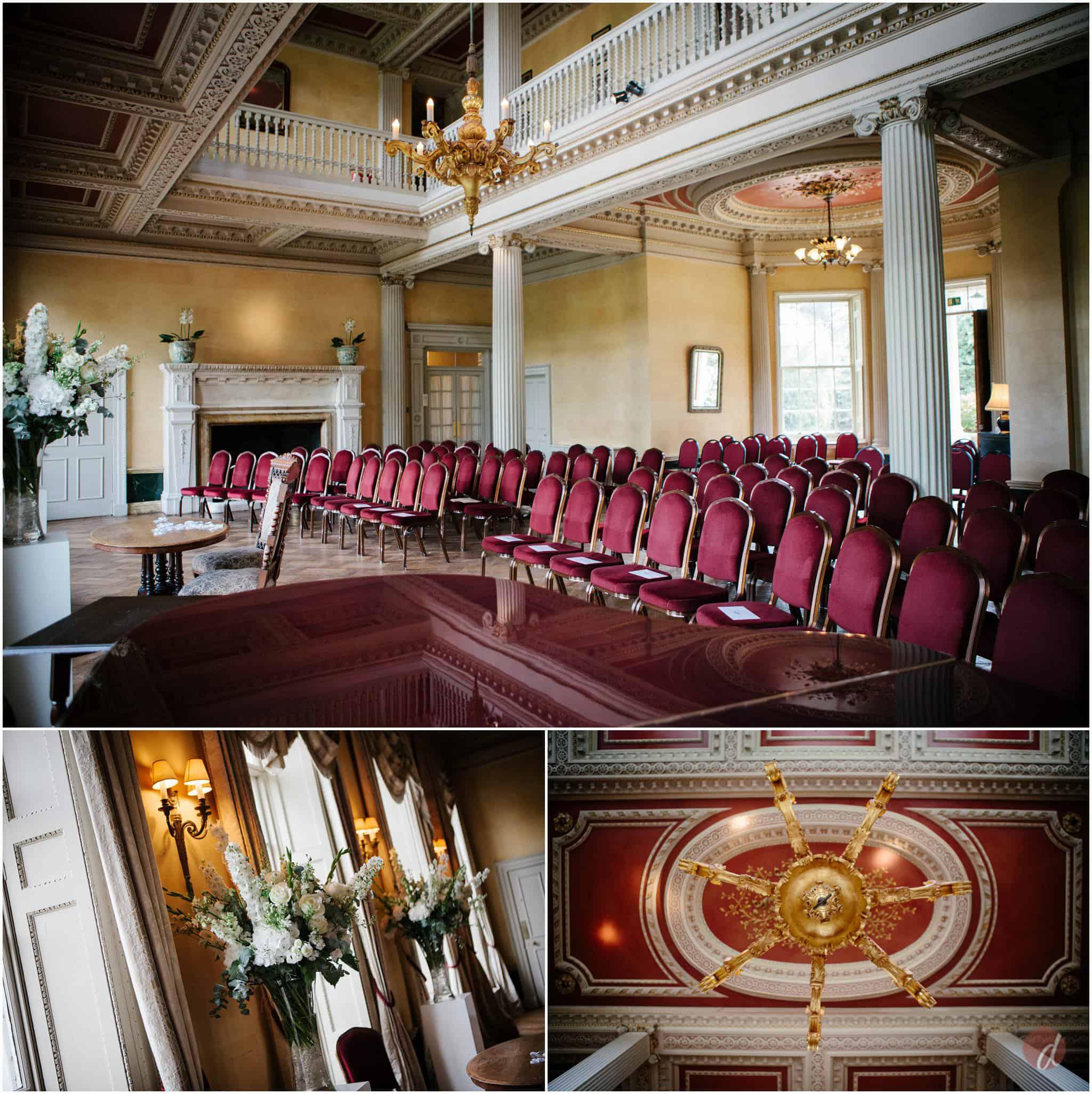 hampton court house wedding room