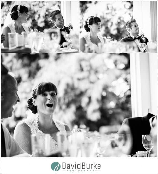 bride and groom speech reactions