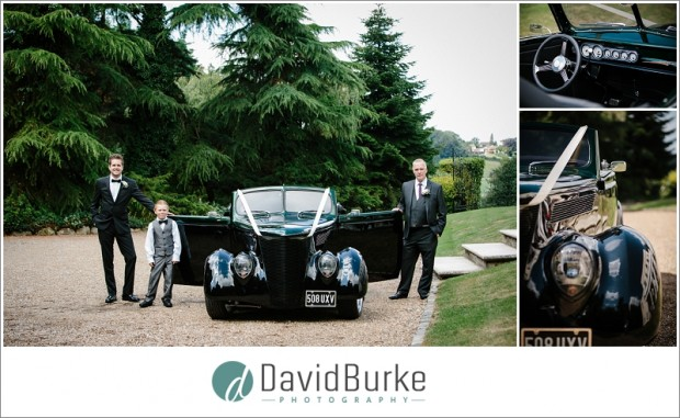 groom with custom car