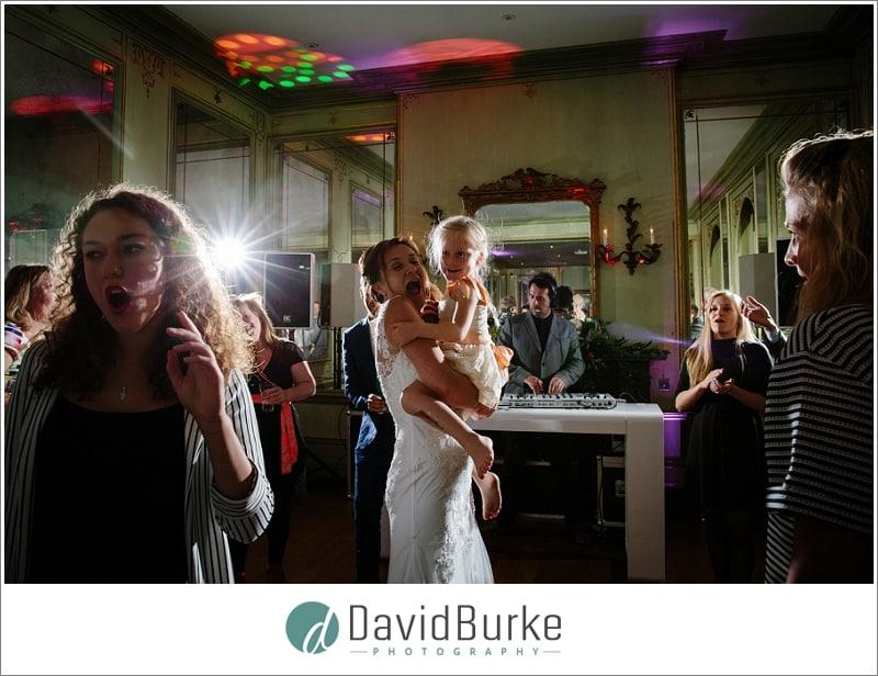 bride dancing with daughter