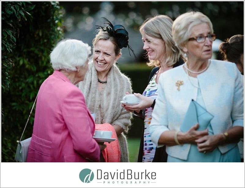 laughing wedding guests hotel du vin