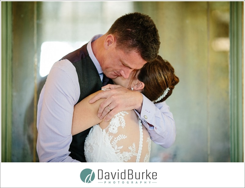 emotional groom during speeches