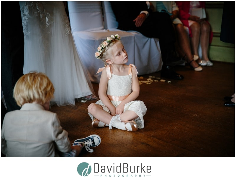 cute flowergirl at hotel du vin