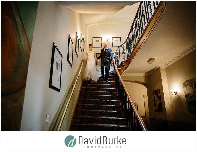 bride and dad at Hotel du Vin Tunbridge Wells