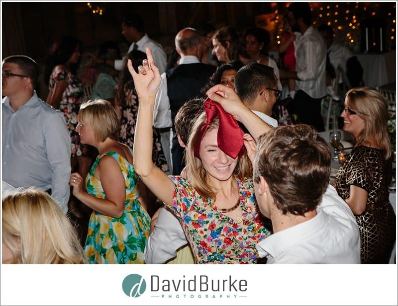 drunk dancing wedding guests