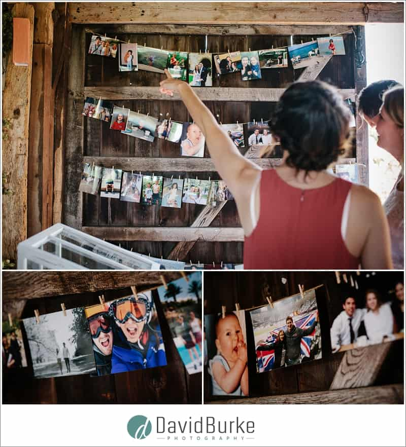 couples photos at wedding on board