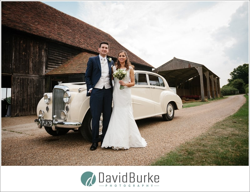 bride and groom great barn rolvenden