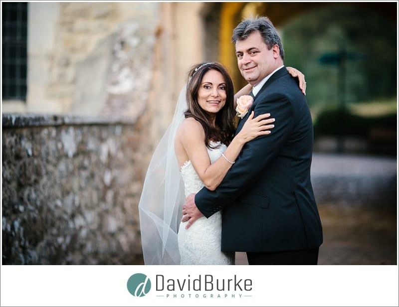 happy couple outside leeds castle