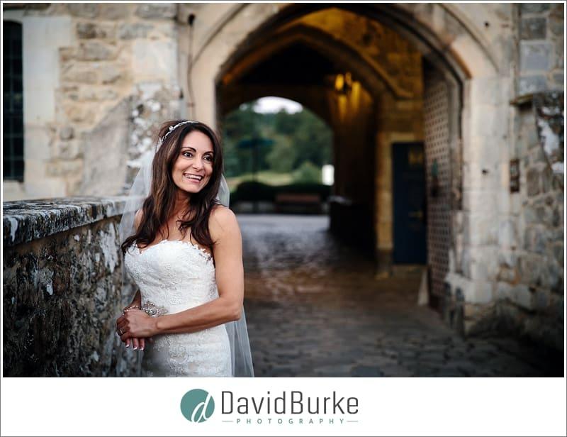 beautiful bride leeds castle