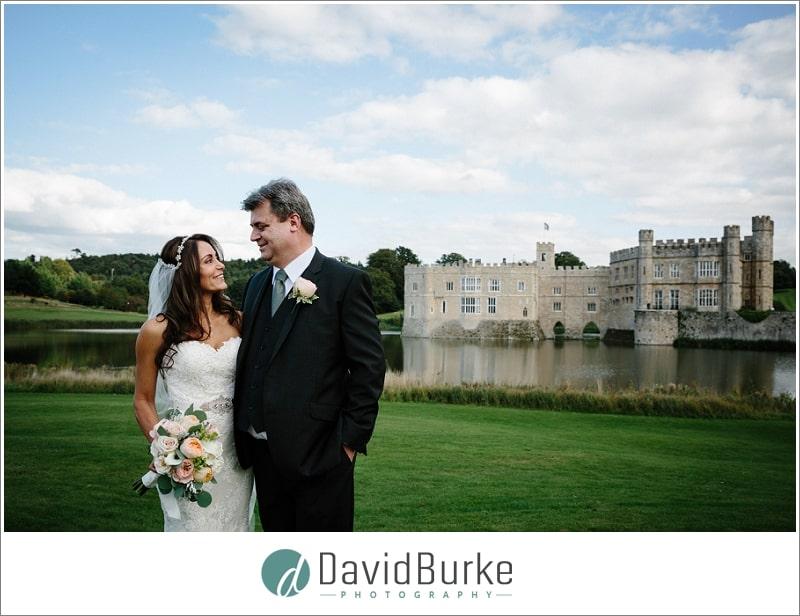 leeds castle bride and groom