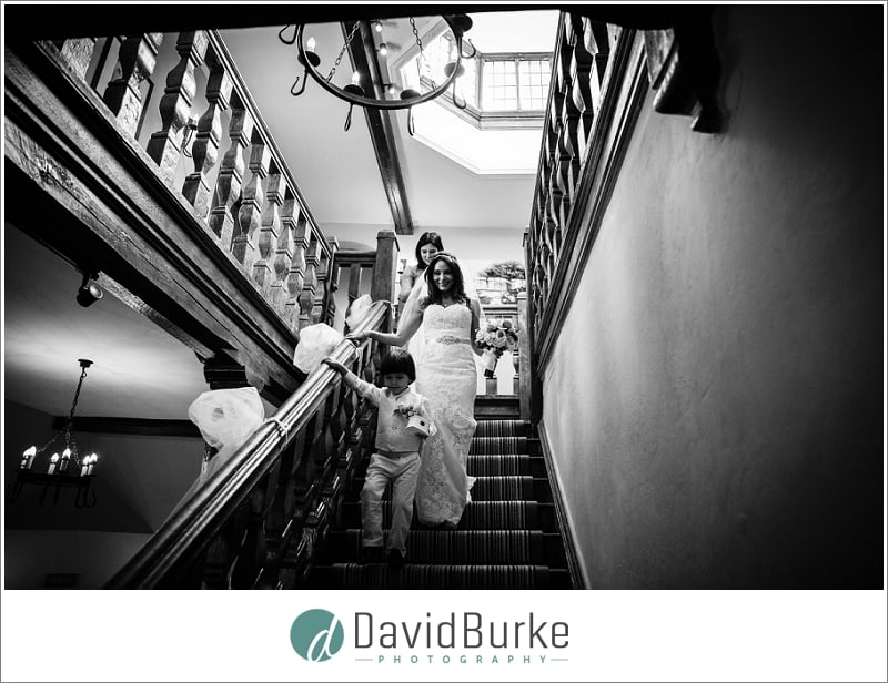 bride and pageboy maidens tower