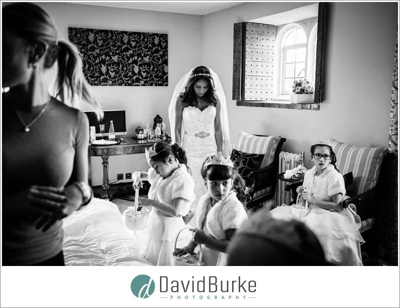 pensive bride