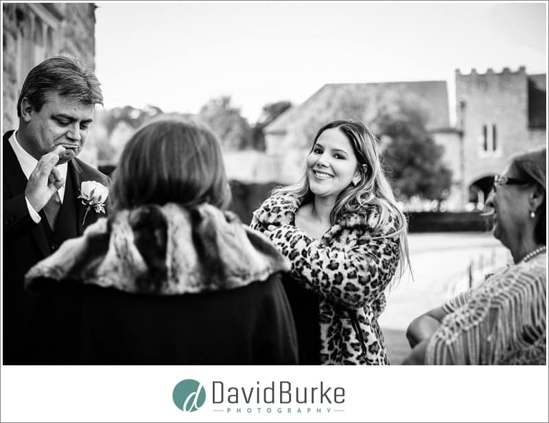 groom greeting guests at maidens tower