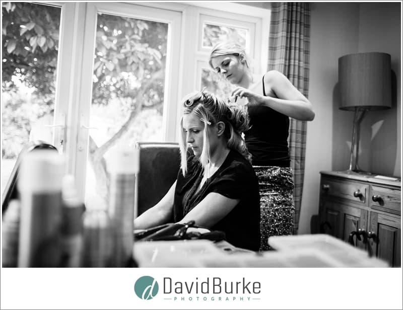bride in hair and makeup