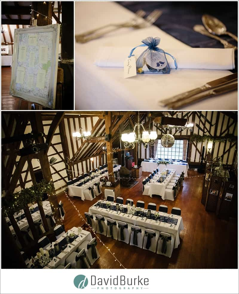 reception room at the plough leigh
