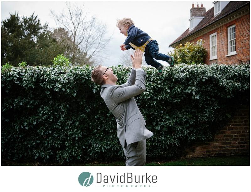 toddler catching air