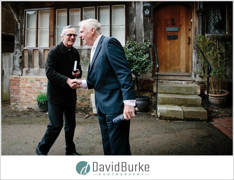 Dad greets vicar