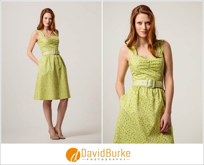 stewart parvin lime ditsy dress