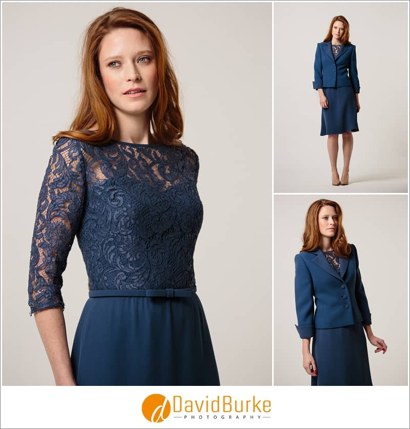 stewart parvin petrol blue crepe cocktail dress and jacket