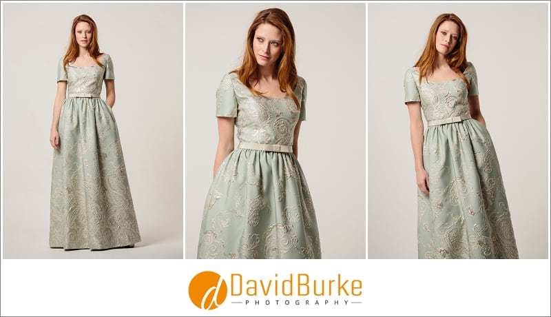 stewart parvin pale mint brocade evening dress