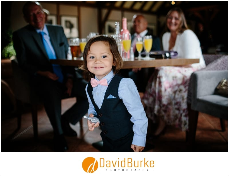 cool kid at cooling castle wedding
