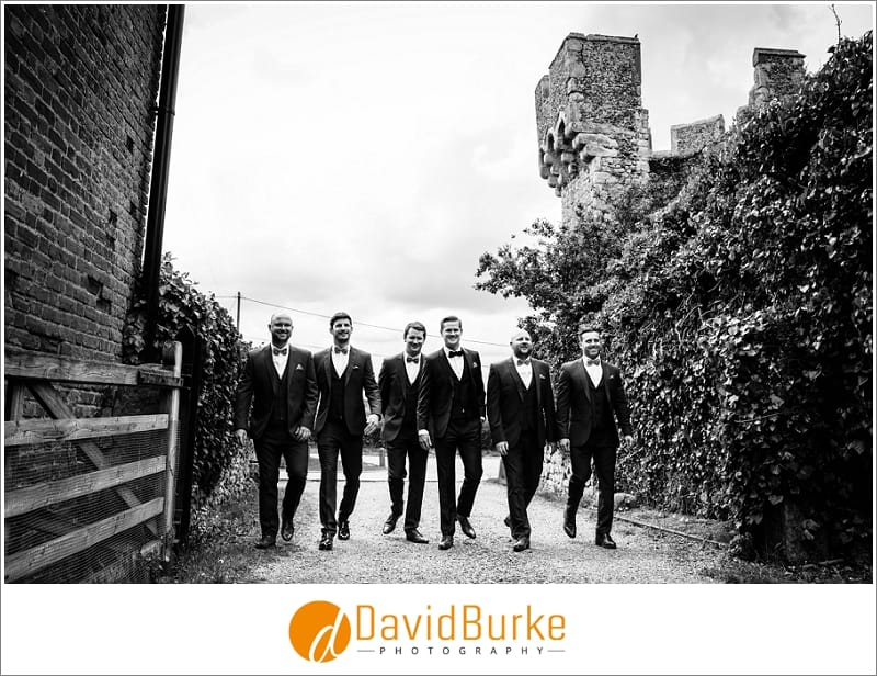cool groomsmen at cooling castle
