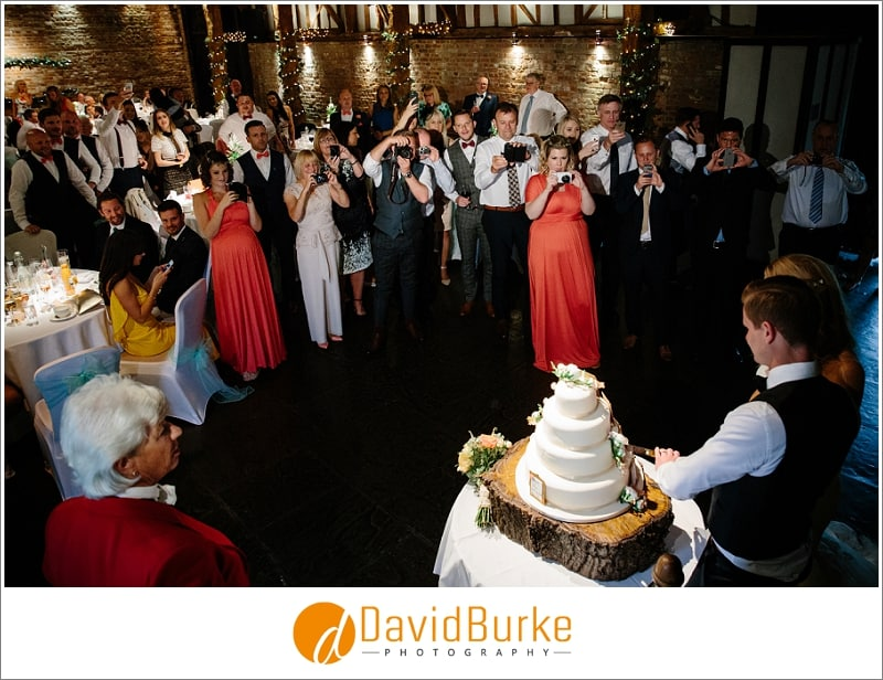 cake cut at cooling castle