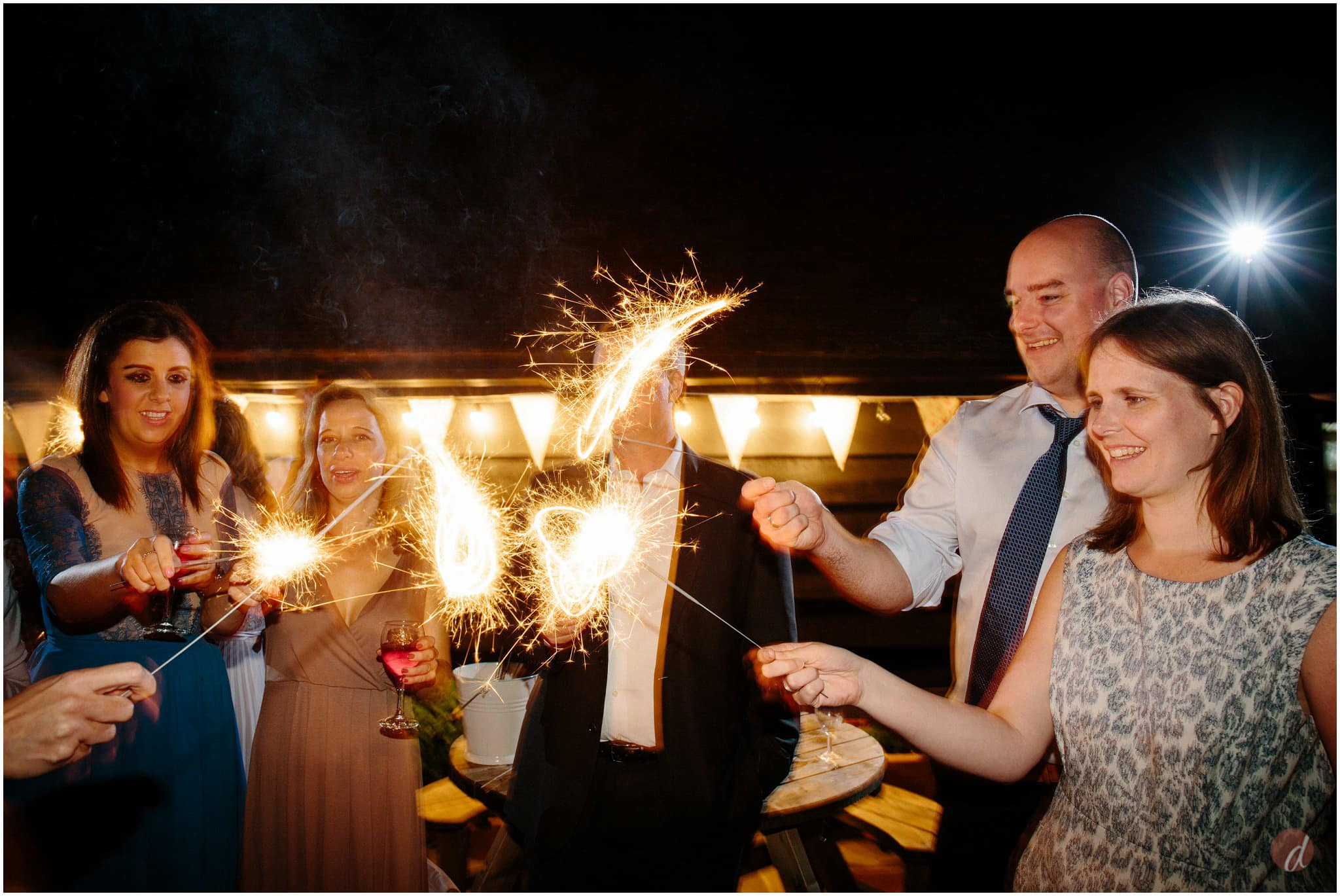 wedding sparkler shots