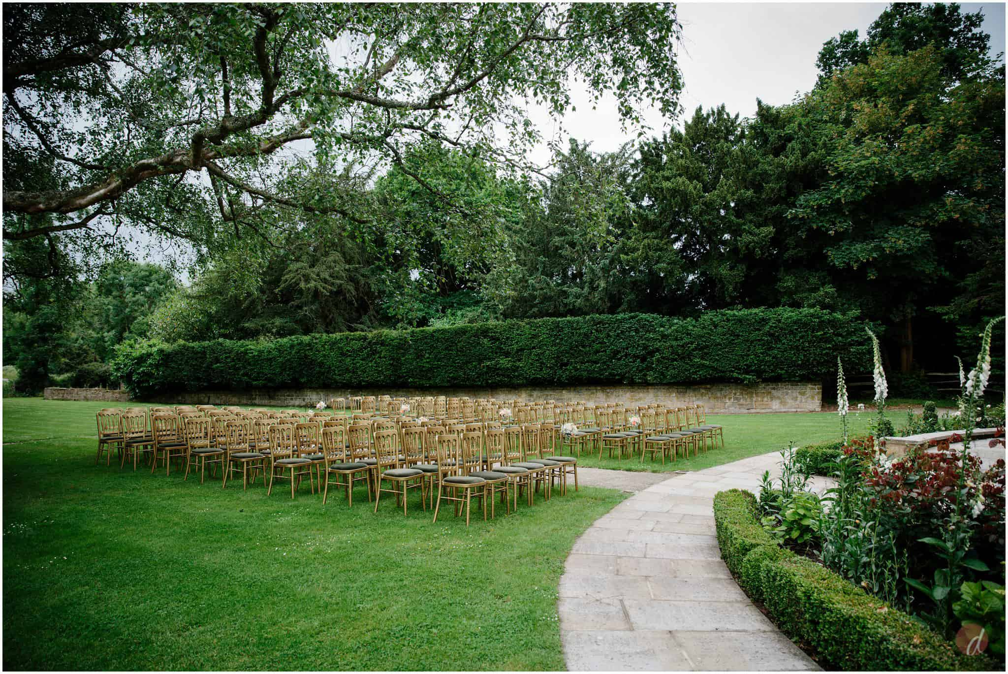 chiddingstone castle outdoor ceremony