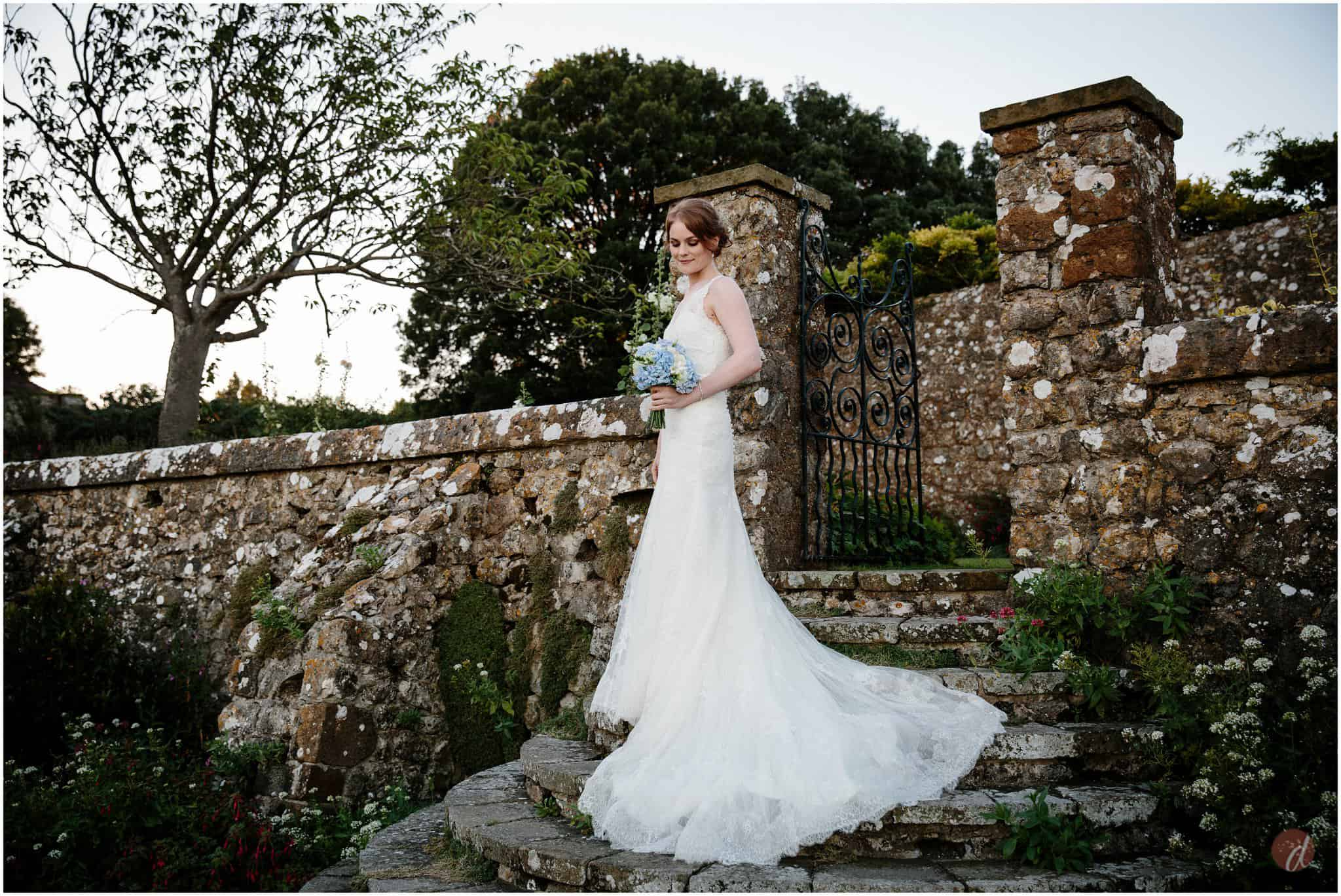 lympne castle bride photo