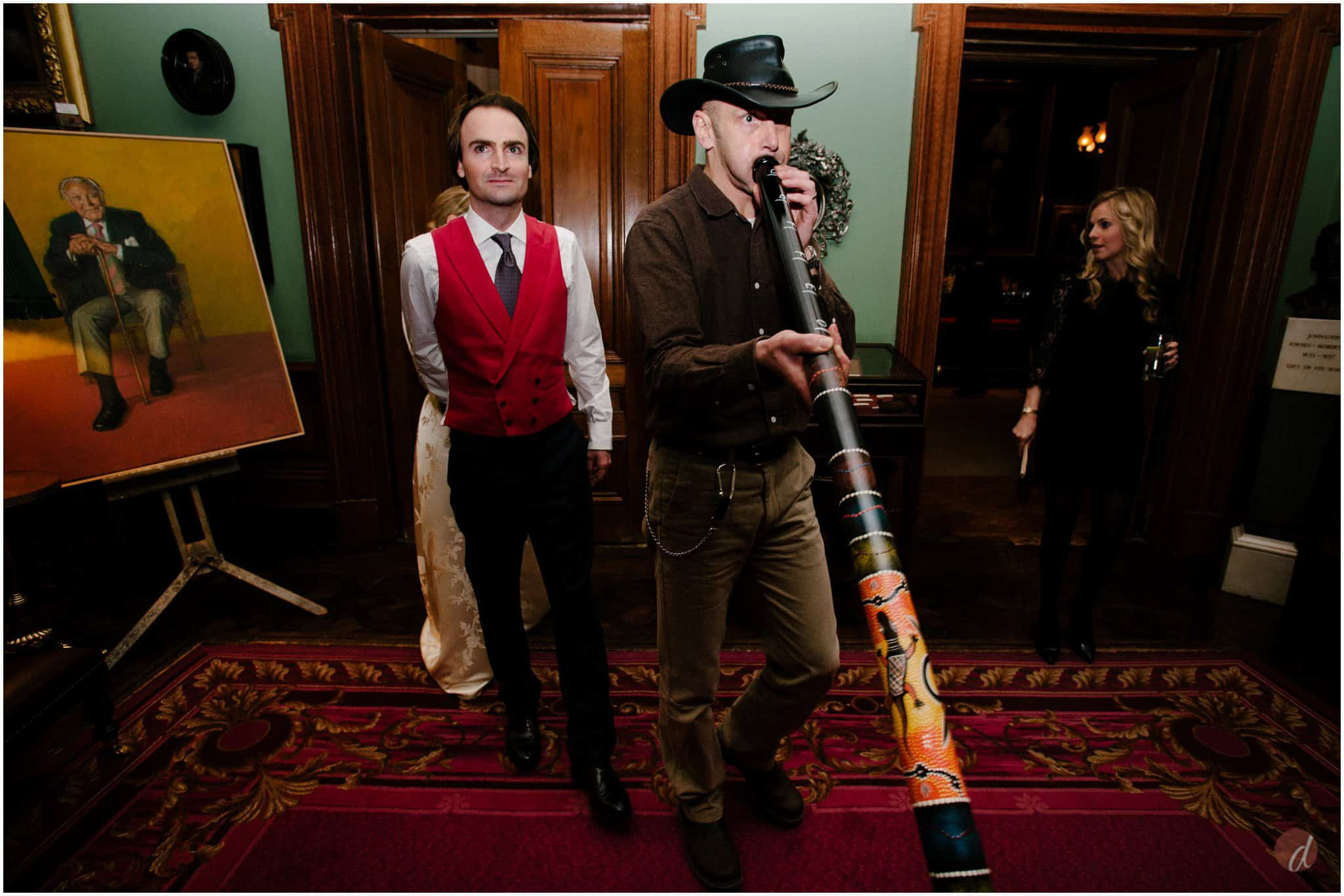 Didgeridoo at wedding