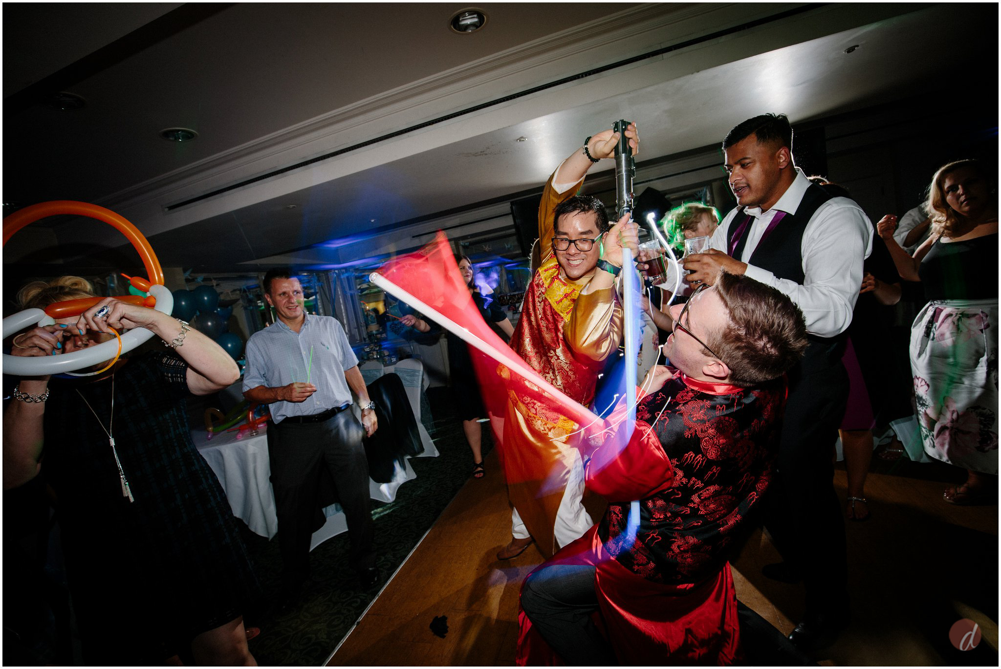 wedding lightsabers