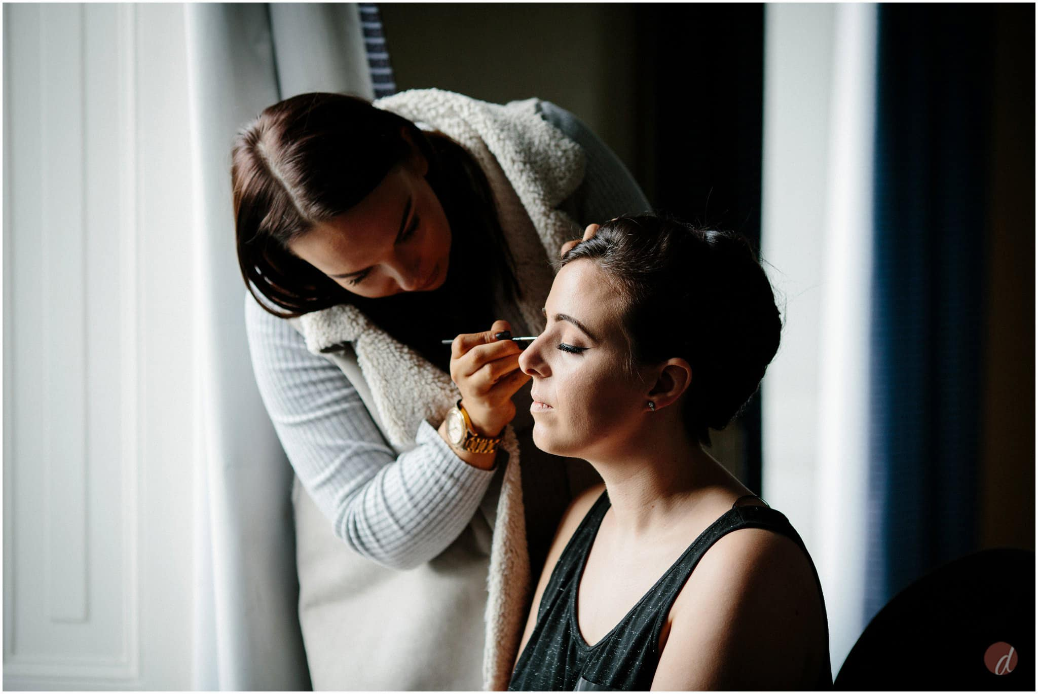 bridal prep at salomons
