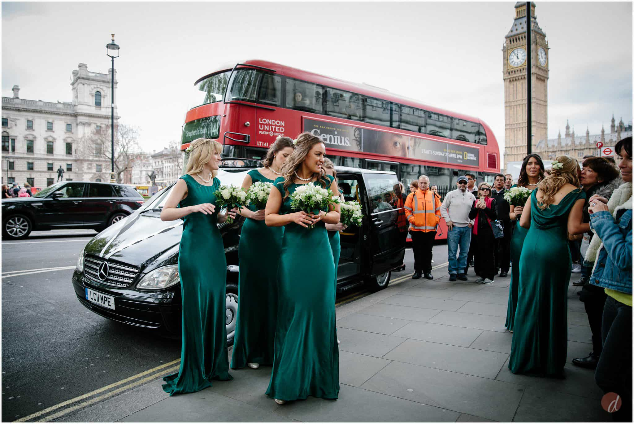 bridesmaids at st margarets church