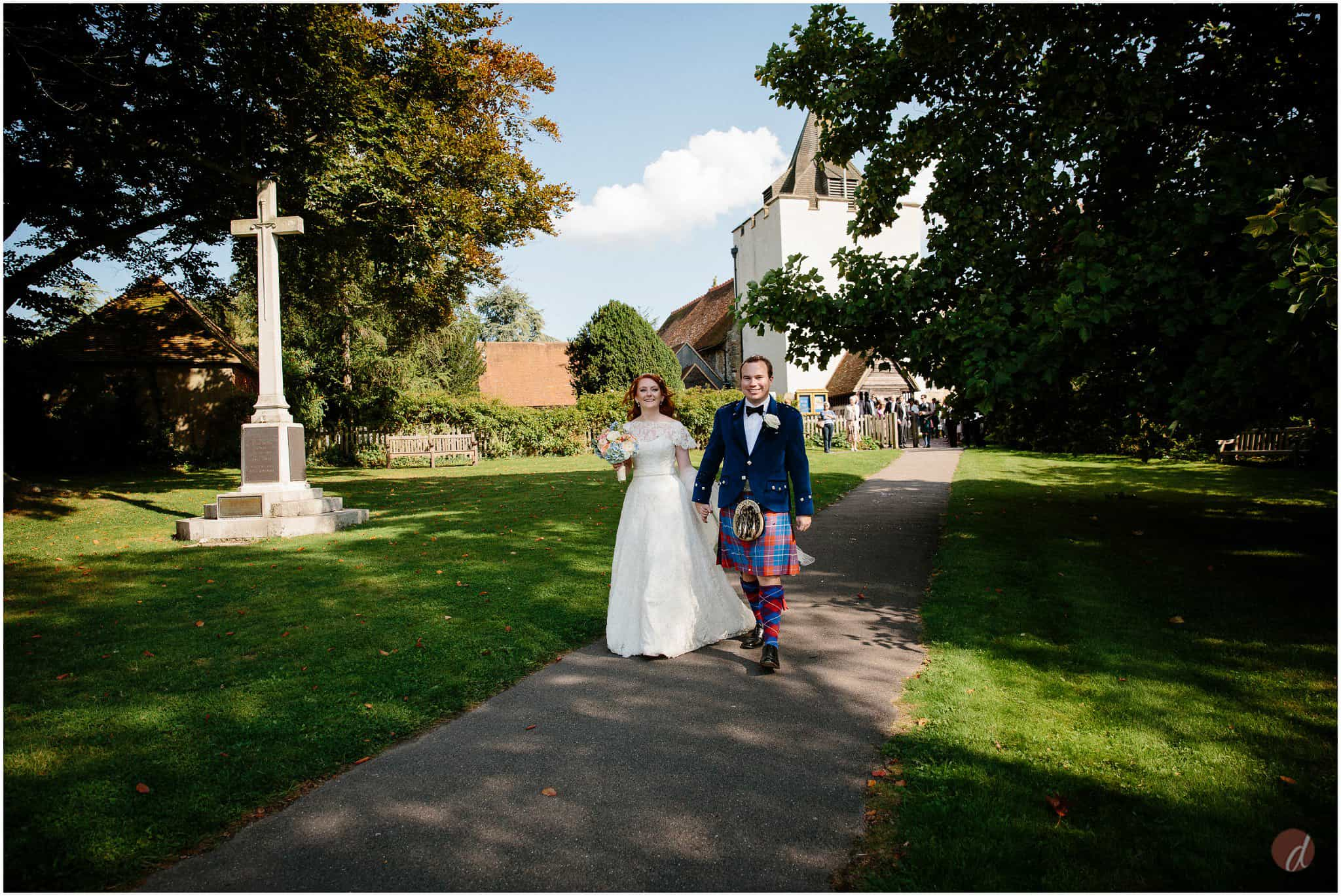 st bartholemews church otford wedding