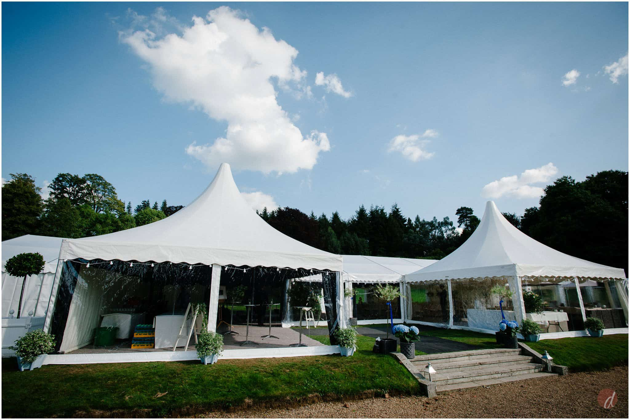 squerryes court marquee wedding