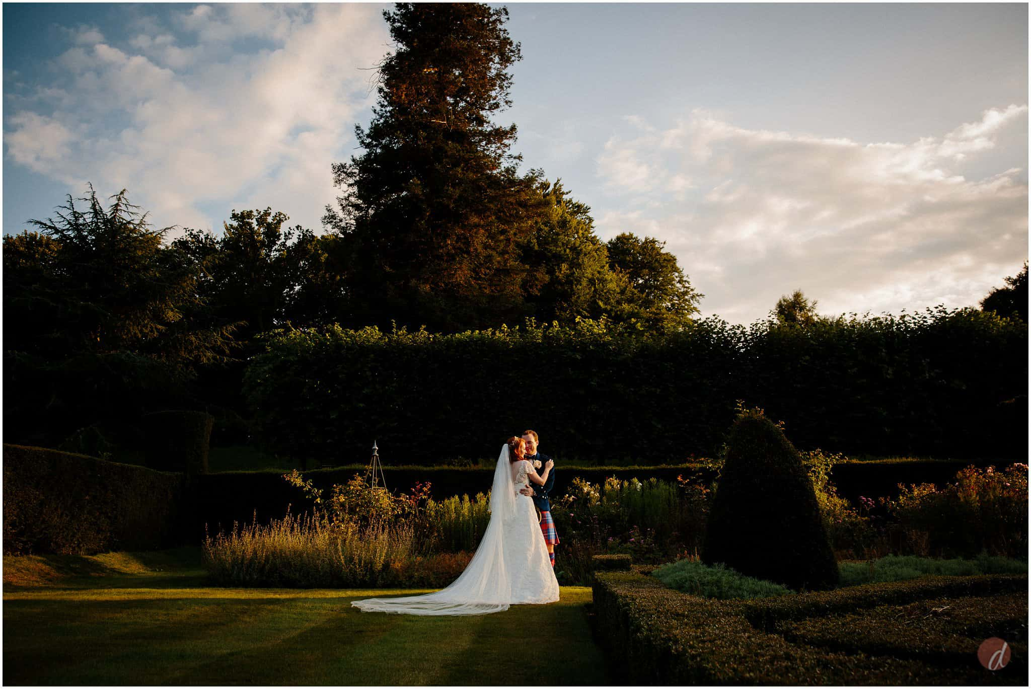 summer wedding squerryes court