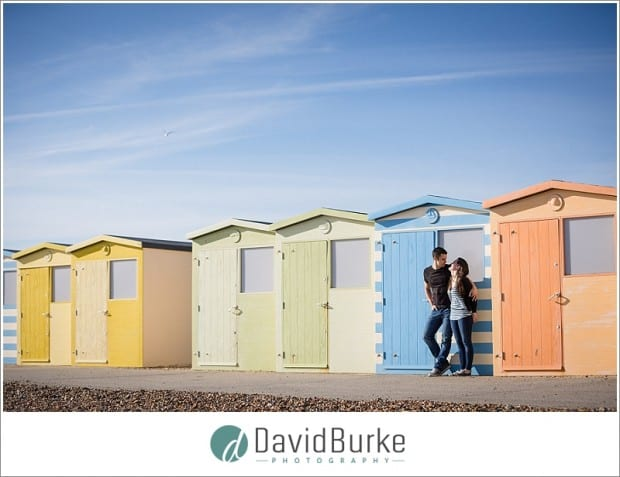Seaside pre-wedding shoot at Seaford, Kent