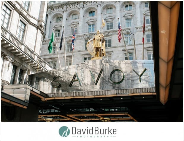 Savoy Hotel London weddings